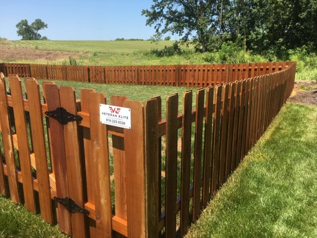 beautiful wood stain for fence