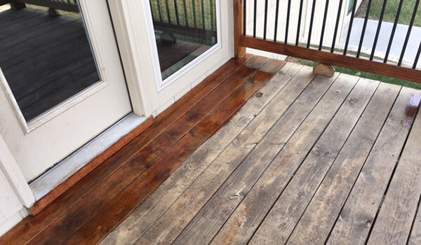 deck staining service project