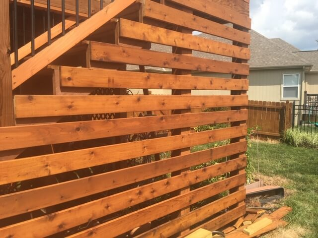 decorative deck stianing project