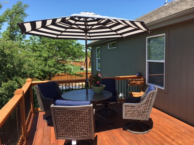 gladstone deck stain project