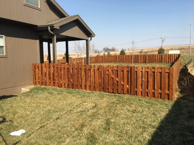 home fence staining project