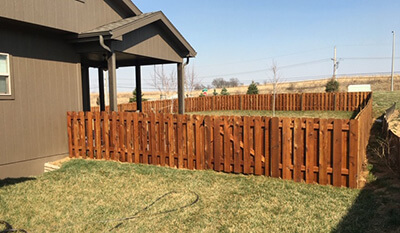 home fence staining service