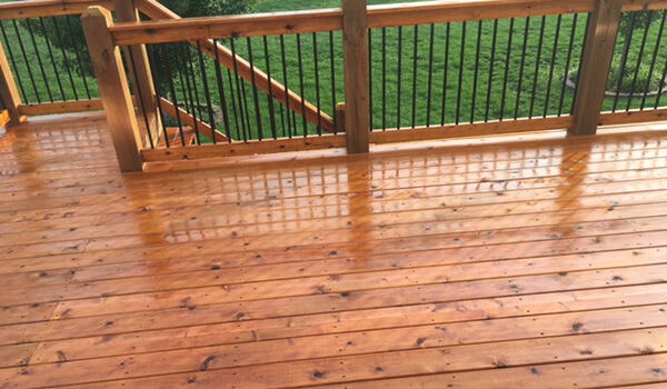 kansas city deck staining service