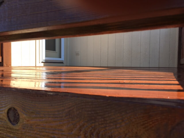 kearney hardwood deck stain project