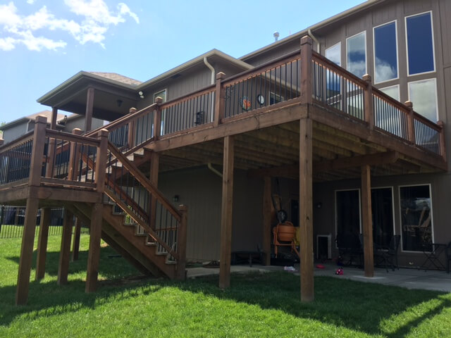 liberty missouri deck stain project