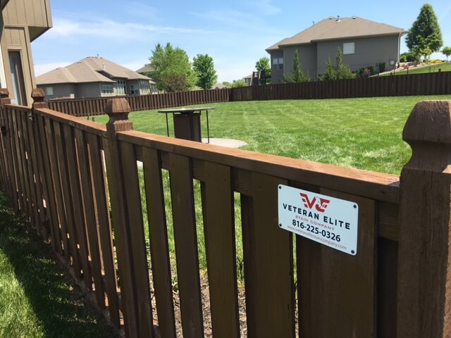 north kc fence stain project