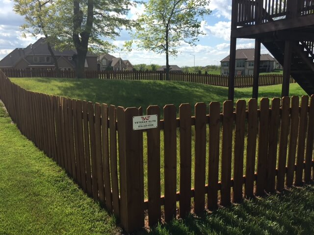 northland kansas city fence staining project