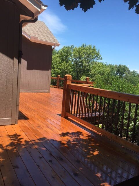 outdoor deck staining project