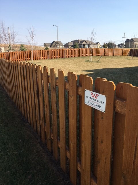 veteran elite fence staining project