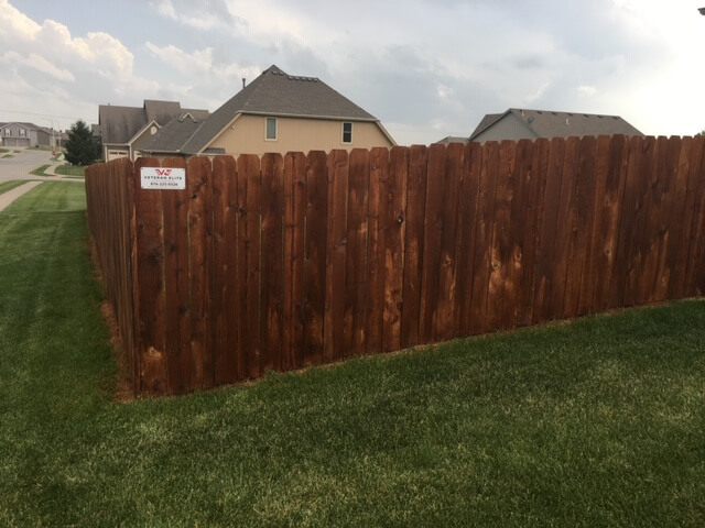 wood fence stain project